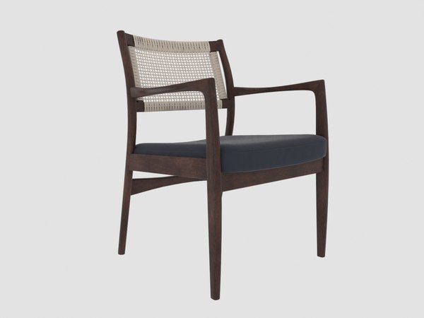 3D modern dining chair tribute model