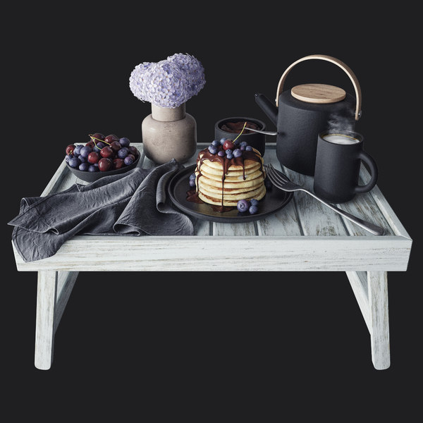 breakfast bed 3D model