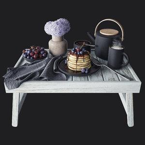 breakfast bed 3D model
