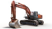 hitachi zaxis 350 h 3D model