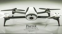 parrot bebop 2 3D model