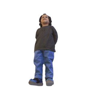 3D model scanned kid standing