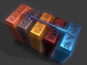 ingot key copper 3D