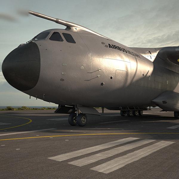 3D airbus a400m 400
