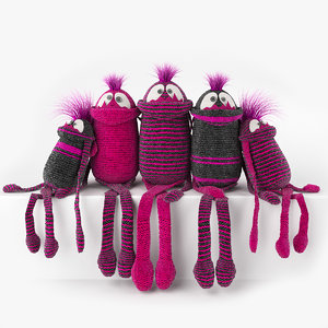 3d model knitted sock
