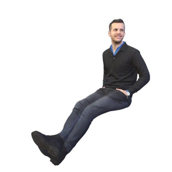 3D scanned sitting model