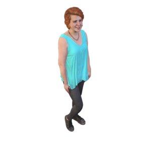 scanned girl smile 3D model