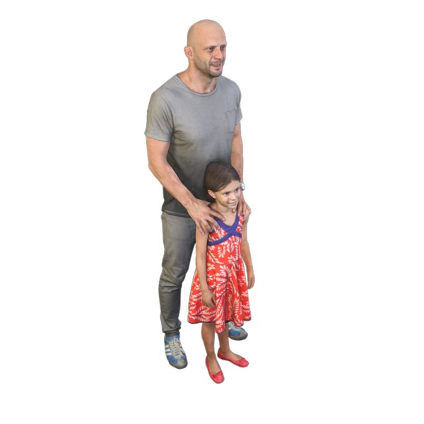 scanned father daughter 3D