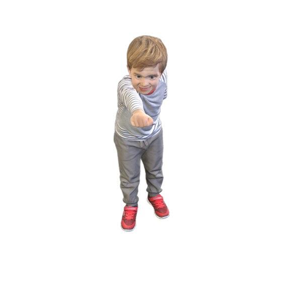 scanned kid 3D model