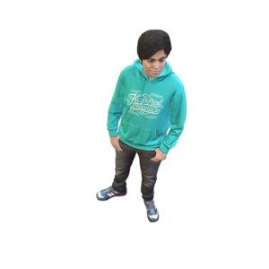 3D scanned standing model