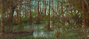 swamp landscape 3D
