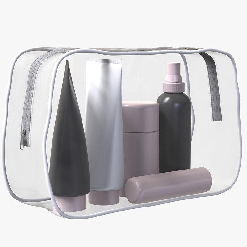 3D zipper bag products model
