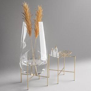 3D bathroom vase model