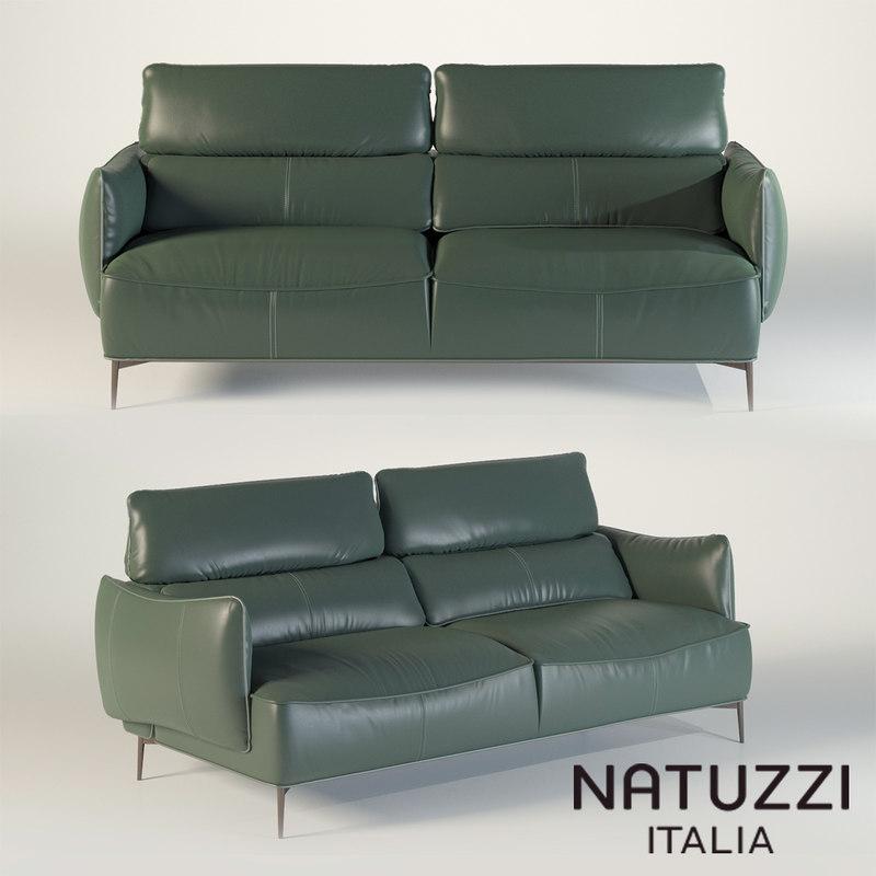 3D natuzzi sofa