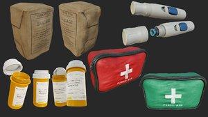 3D model aid pbr bandage