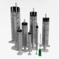 syringe set 3D model