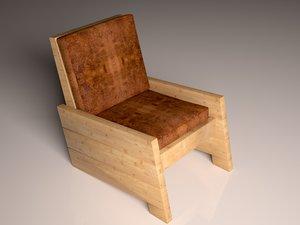 simple chair sofa model