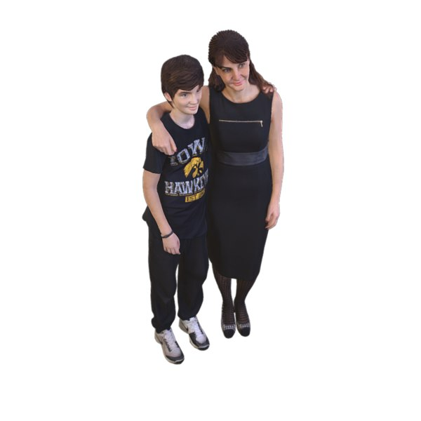 3D scanned mother son