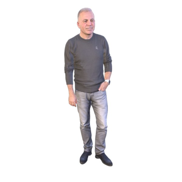 scanned guy 3D model