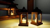 furniture norvedem wooden lamp 3D model