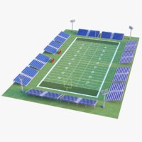 football court modeled 3D model