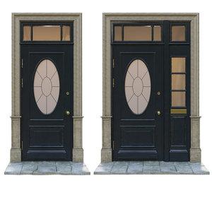 3D classic doors entrance model
