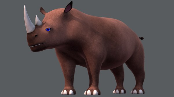 rhino v01 cartoon animal model