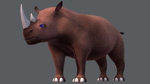 rhino v01 cartoon animal model
