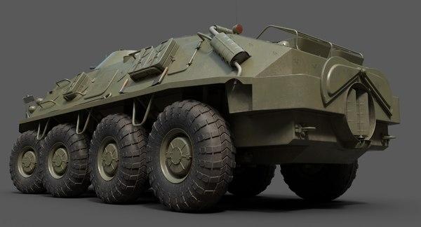 3D model soviet apc btr-60 60