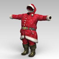 3D santa clothes