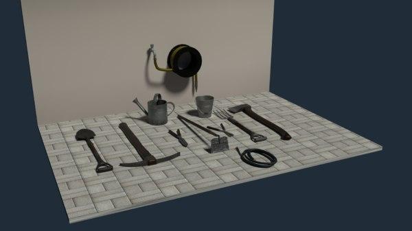 garden tolls pack 3D model
