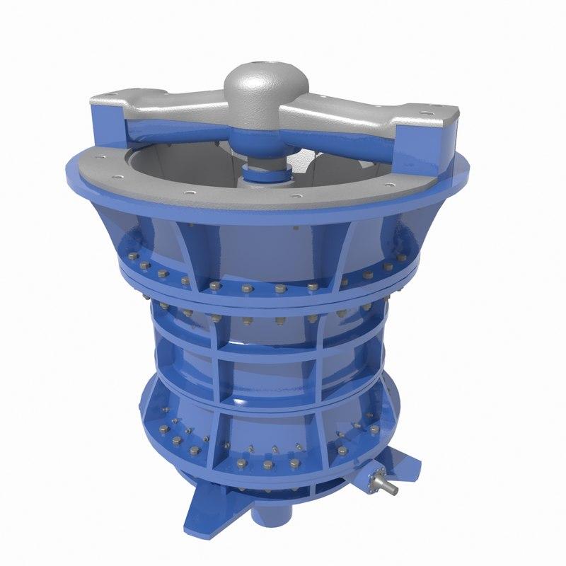 3D gyratory crusher model