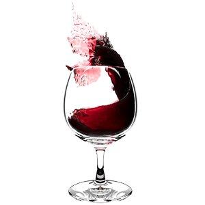 splash wineglass 3D model