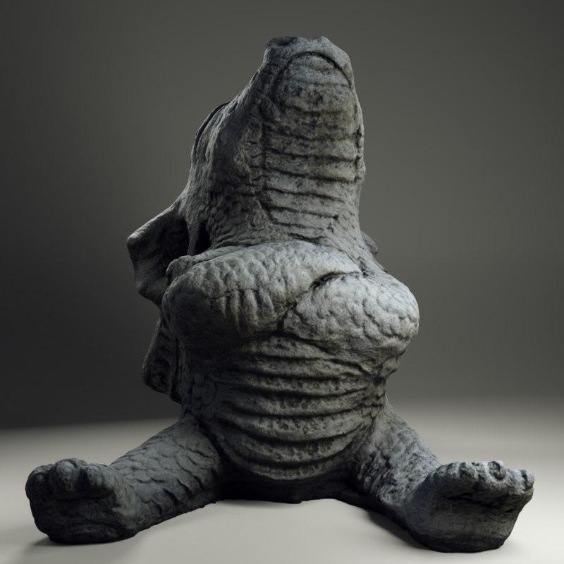 3D stone drake offended