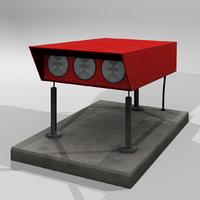 3D papi light model