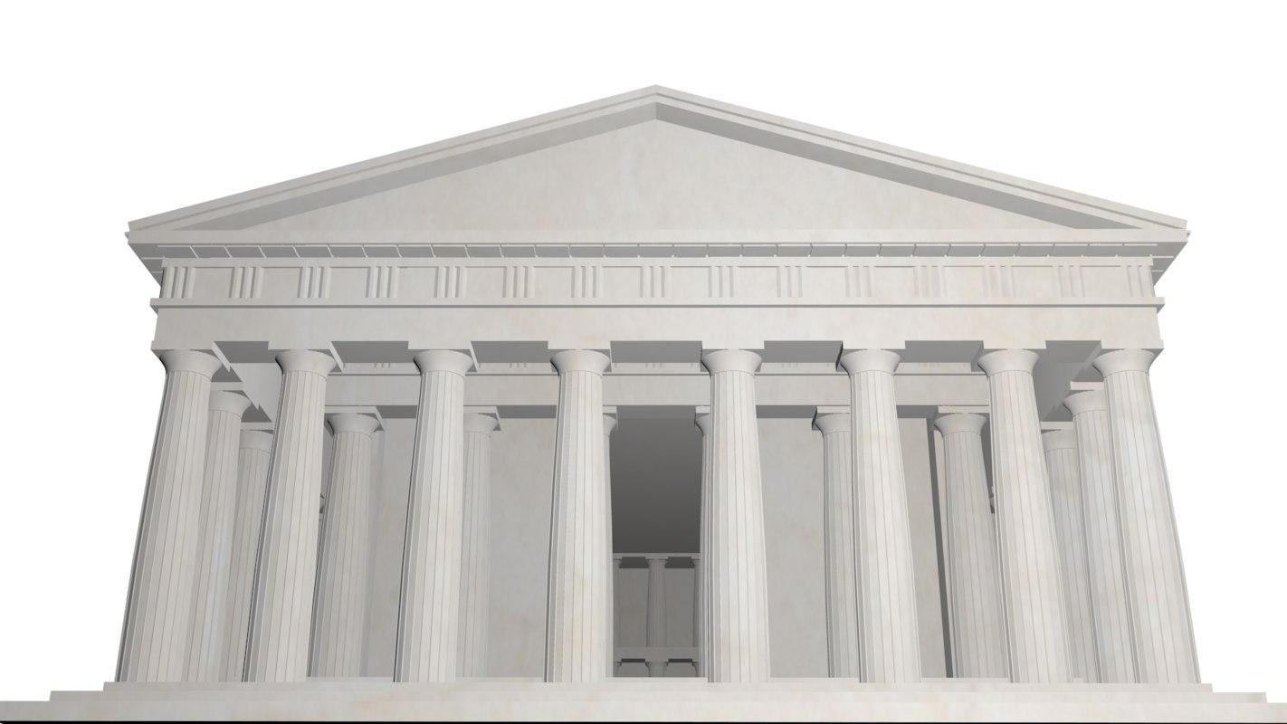 3D model parthenon greek temple