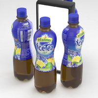 3D bottle ice tea