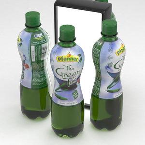 bottle green tea 3D