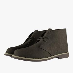 suede chukka boots khaki model