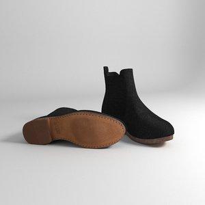 3D model fabric boots