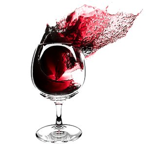 splash wineglass 4 3D model