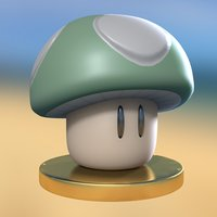 stylized cartoon mushroom video 3D model