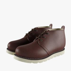 3D chukka work boots 2 model