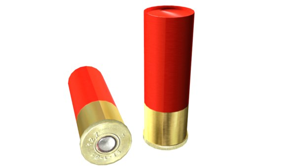 bullet shotgun 3D model