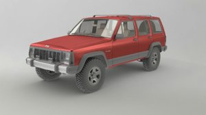 jeep cherokee xj suv 3D model