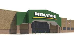 exterior retail menards store 3D model