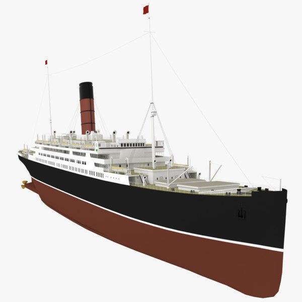 3D model original immigration ships
