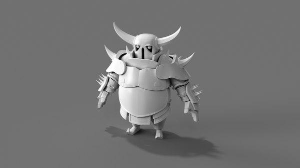 3D character pekka