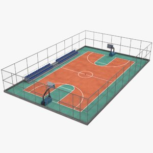 3D model basketball court