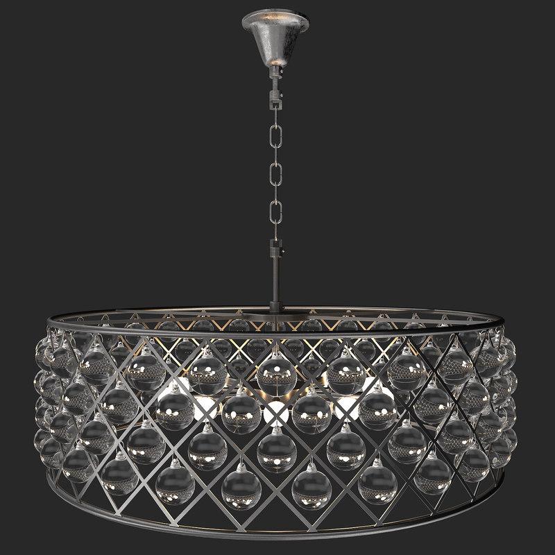 tipothy oulton lamp zig zag 3D